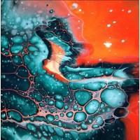 Як створити красиві комірки в акриловій заливці - Fluid Art